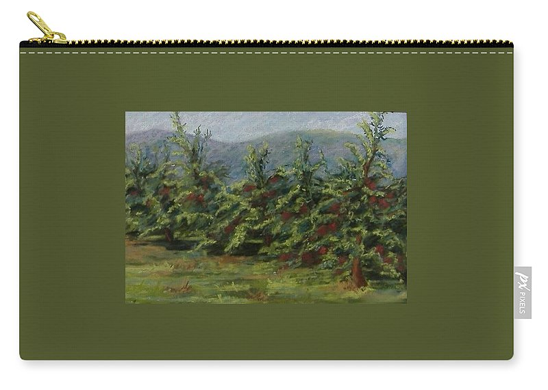 Apple Trees Carry-all Pouch featuring the pastel Ah The Apple Trees by Pat Snook