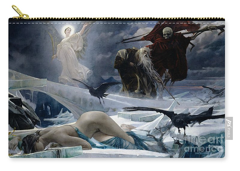 Ahasuerus Carry-all Pouch featuring the painting Ahasuerus At The End Of The World by Adolph Hiremy Hirschl