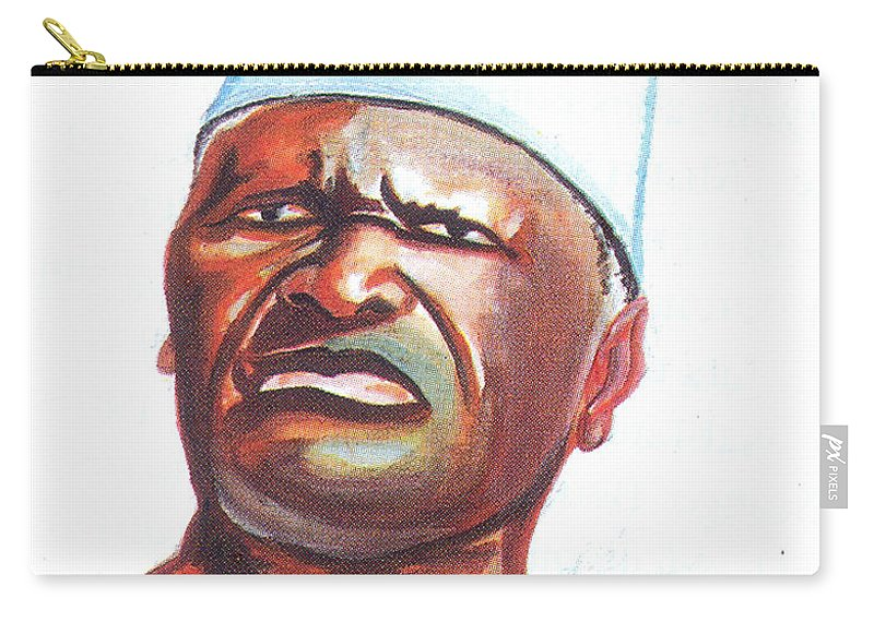 Ahmed Sekou Toure Carry-all Pouch featuring the painting Ahmed Sekou Toure by Emmanuel Baliyanga
