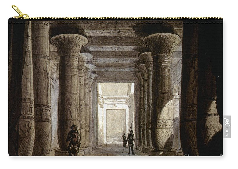 1871 Carry-all Pouch featuring the photograph Aida Set, 1871 by Granger