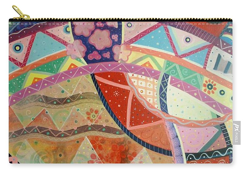 Hand Carry-all Pouch featuring the painting Aim High by Helena Tiainen