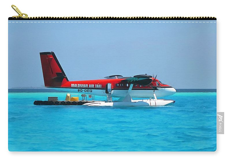 Air Taxi Carry-all Pouch featuring the photograph Hydroplane by Sergey Lukashin