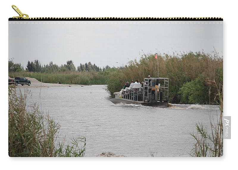 Everglades Carry-all Pouch featuring the photograph Airboat Rides 25 Cents by Rob Hans