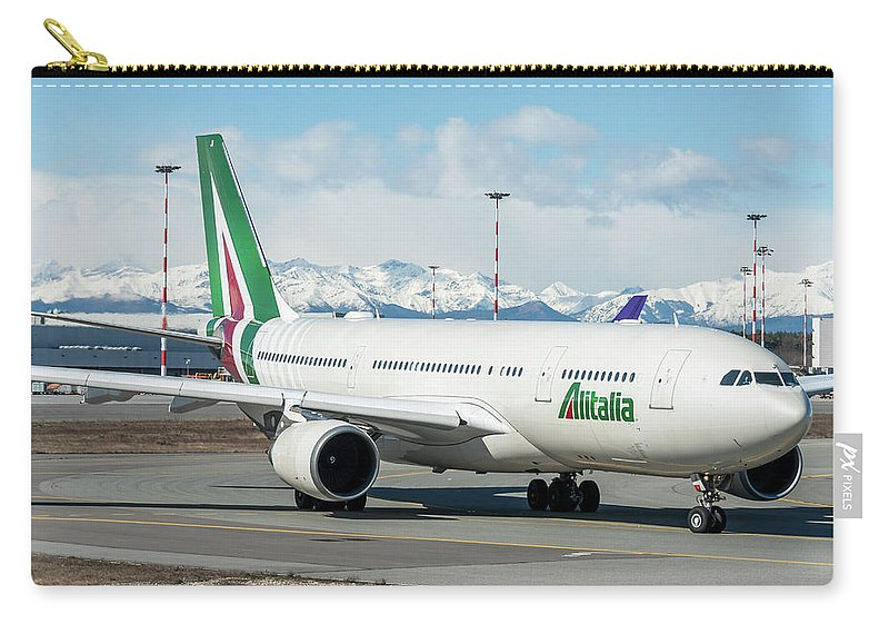 Airbus A330 Alitalia With New Livery Carry-all Pouch
