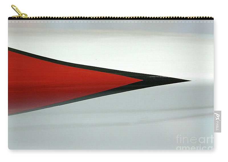 Abstract Carry-all Pouch featuring the photograph Aircraft Pinstripe by Rick Bures