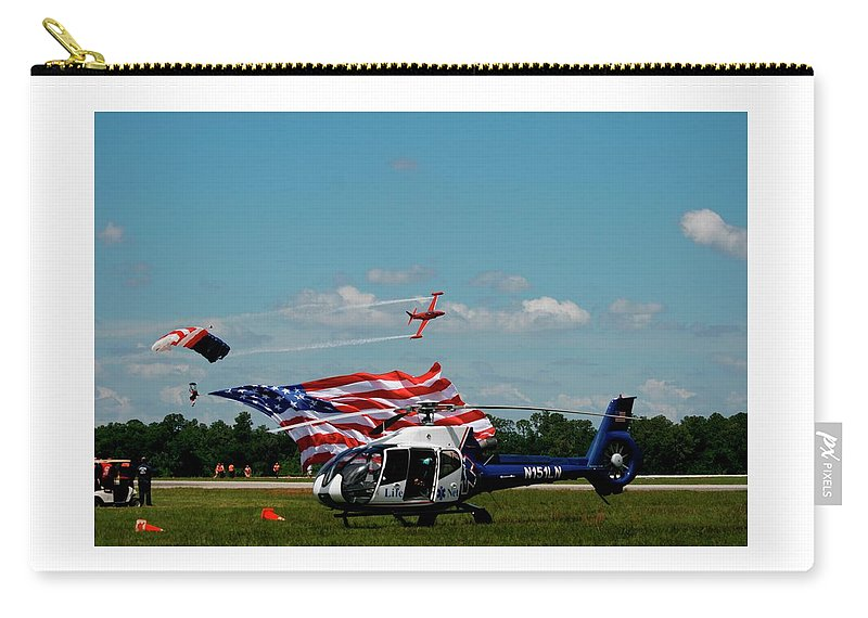 Aircraft Carry-all Pouch featuring the digital art Airshow Opening by Richard Filteau