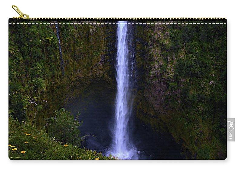Big Island Akaka Falls Waterfall Carry-all Pouch featuring the photograph Akaka Falls by James Roemmling