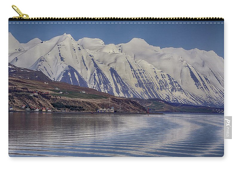 Akureyri Carry-all Pouch featuring the photograph Akureyri Estuary by Ceri Jones