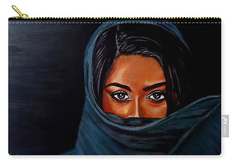 Woman Carry-all Pouch featuring the painting Al-andalus-1 by Manuel Sanchez