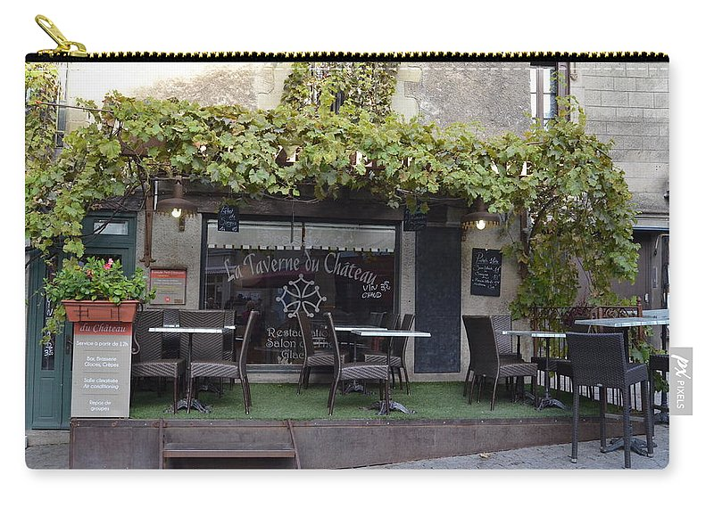 Al Fresco Carry-all Pouch featuring the photograph Al Fresco Anyone? by Dawn Crichton