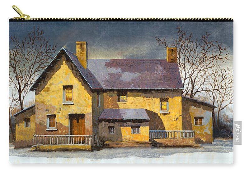 Landscape Carry-all Pouch featuring the painting Al Mattino by Guido Borelli