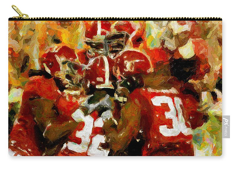 Alabama Carry-all Pouch featuring the painting Alabama Celebrate by John Farr