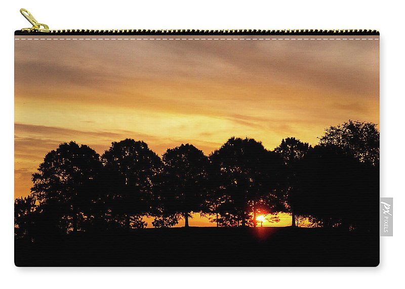 Alabama Carry-all Pouch featuring the pyrography Alabama Sunrise by Mitford Fontaine