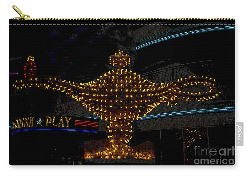 Art Carry-all Pouch featuring the painting Aladdin Las Vegas by David Lee Thompson