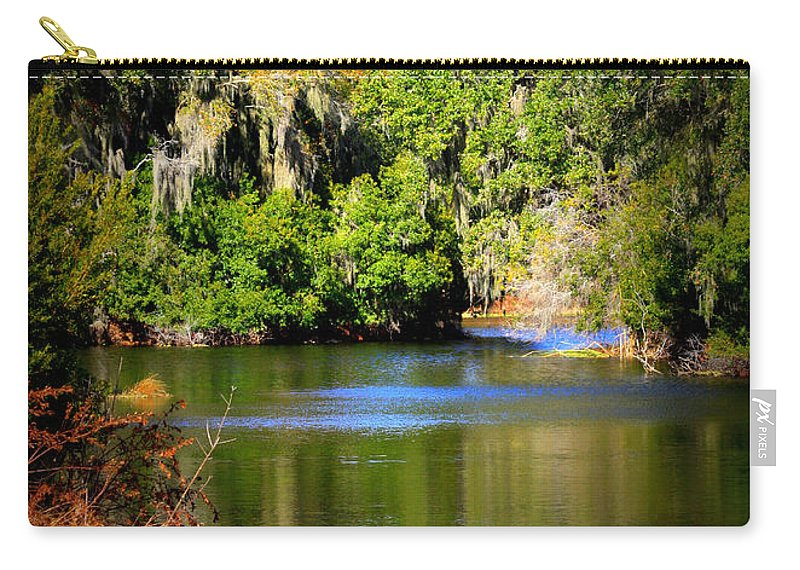 Alafia River Carry-all Pouch featuring the photograph Alafia River by Carol Groenen