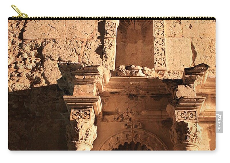 Alamo Carry-all Pouch featuring the photograph Alamo Shadows by Carol Groenen