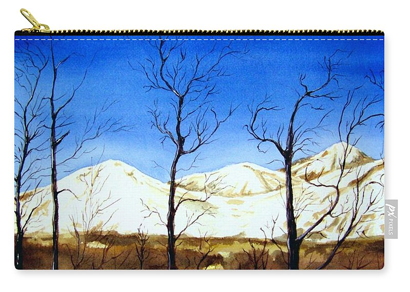 Landscape Carry-all Pouch featuring the painting Alaska Blue Sky Day by Brenda Owen
