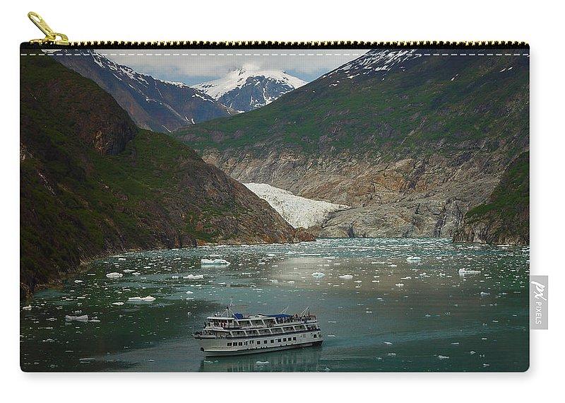 Alaska Carry-all Pouch featuring the photograph Alaska Endicott Glacier by Heather Coen