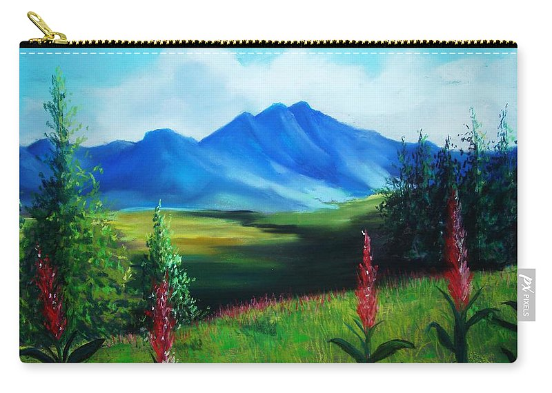 Alaska Carry-all Pouch featuring the pastel Alaska by Melinda Etzold