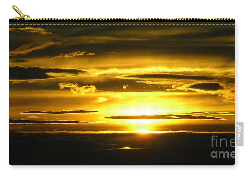 Sunset Carry-all Pouch featuring the photograph Alaskan Sunset by Louise Magno