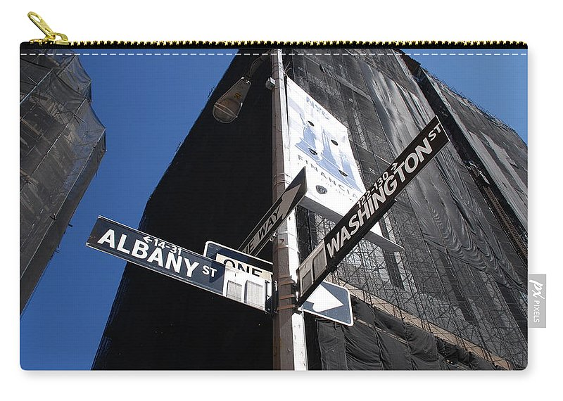 Architecture Carry-all Pouch featuring the photograph Albany And Washington by Rob Hans