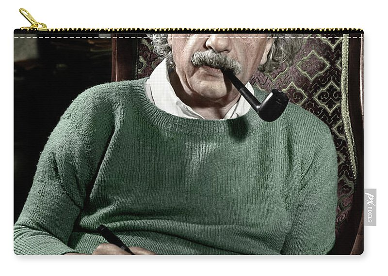 1940 Carry-all Pouch featuring the photograph Albert Einstein by Granger