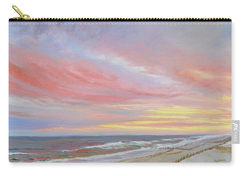 Seascape Carry-all Pouch featuring the painting Alberta's Sunset by Lea Novak