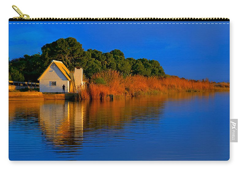 Europe Carry-all Pouch featuring the photograph Albufera Blue. Valencia. Spain by Juan Carlos Ferro Duque