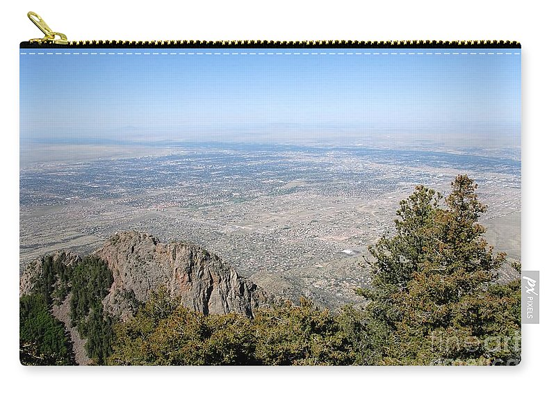 Albuquerque Carry-all Pouch featuring the photograph Albuquerque And The Rio Grande by David Lee Thompson
