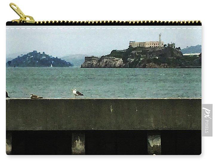 Alcatraz Carry-all Pouch featuring the photograph Alcatraz by George Arthur Lareau