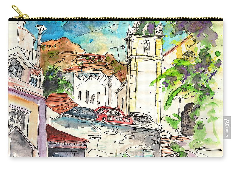 Travel Carry-all Pouch featuring the painting Alcoutim In Portugal 02 by Miki De Goodaboom