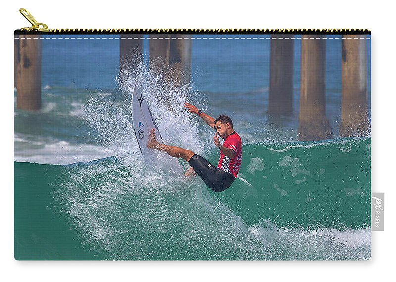Us Open Of Surfing 2017 Carry-all Pouch featuring the photograph Alejo Muniz 4648 by Brian Knott Photography