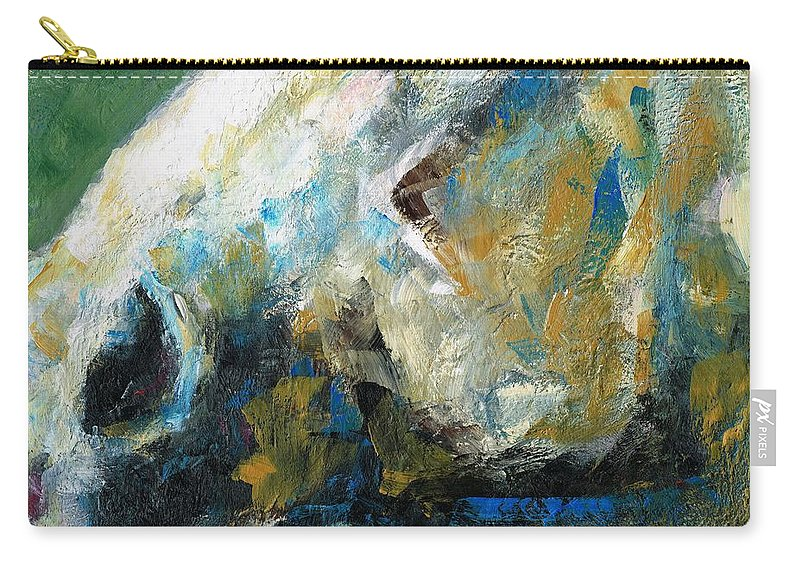 Horses Carry-all Pouch featuring the painting Alerted by Frances Marino