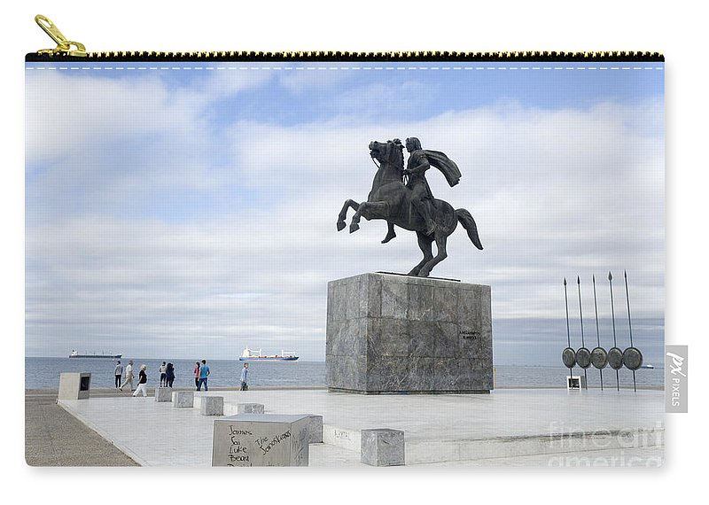 Thessaloniki Carry-all Pouch featuring the photograph Alexander The Great, Thessaloniki, Greece by Moshe Torgovitsky