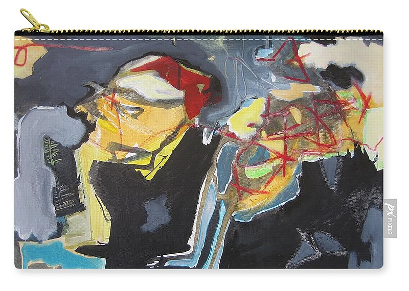Abstract Paintings Carry-all Pouch featuring the painting Alexander Trail by Seon-Jeong Kim