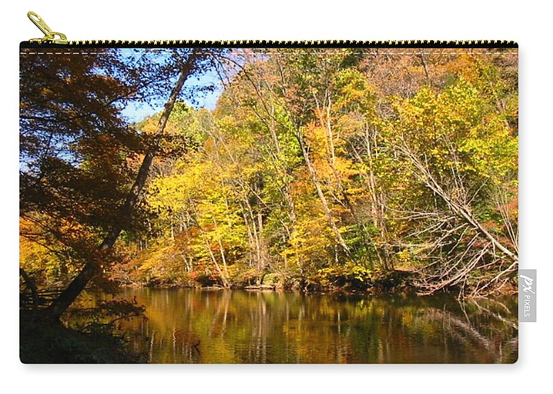 Water Carry-all Pouch featuring the photograph Alexandria Creek In The Fall by Sara Raber