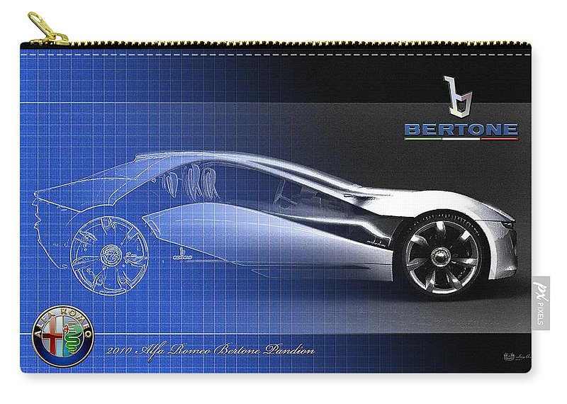 Wheels Of Fortune By Serge Averbukh Carry-all Pouch featuring the photograph Alfa Romeo Bertone Pandion Concept by Serge Averbukh