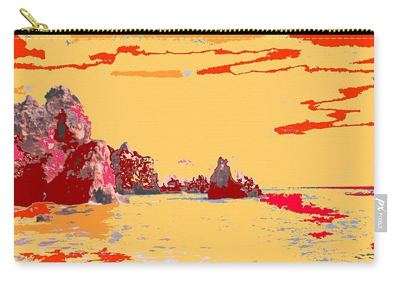 Mediterranean Carry-all Pouch featuring the photograph Algarve Sunrise by Ian MacDonald