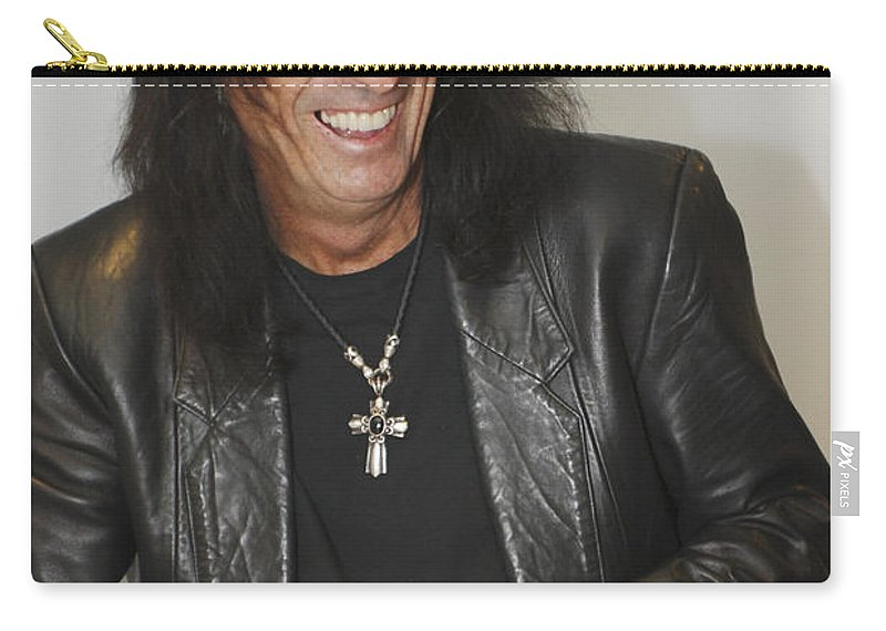 Alice Cooper Carry-all Pouch featuring the photograph Alice Cooper Happy by Jill Reger