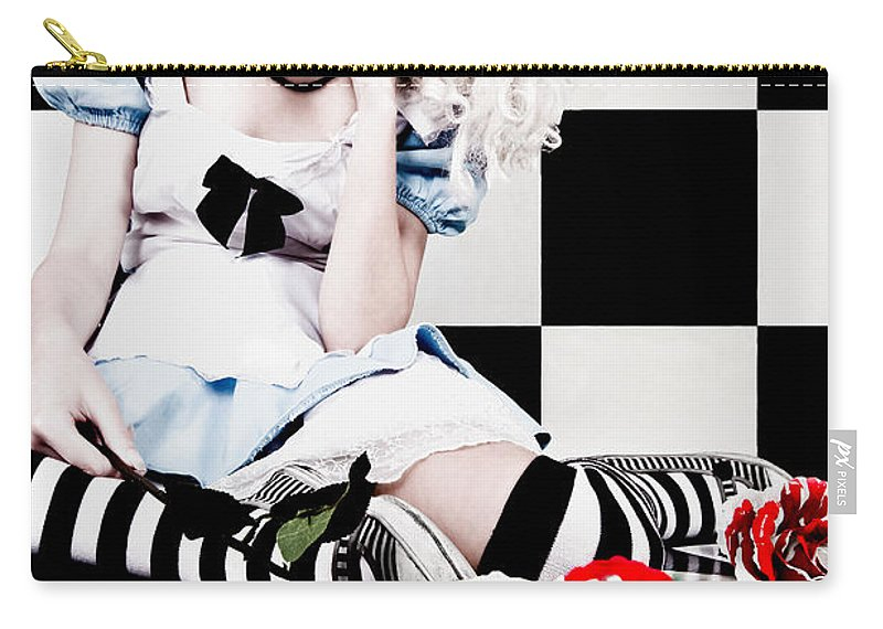 Alice In Wonderland Carry-all Pouch featuring the photograph Alice2 by Kelly Jade King