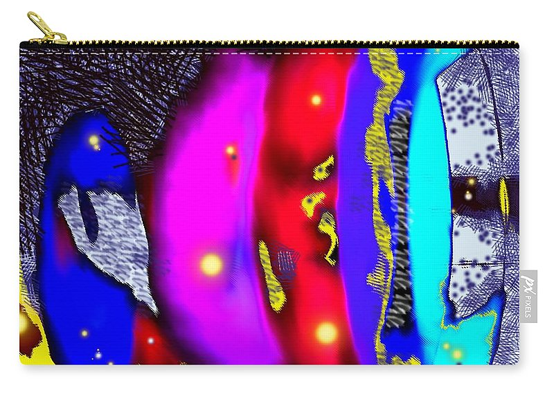 Abstrct Carry-all Pouch featuring the digital art Alien Art Forms by Ian MacDonald