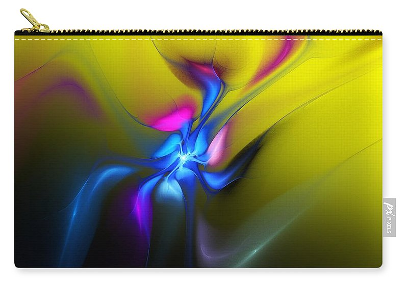 Floral Carry-all Pouch featuring the digital art Alien Flower 2 by David Lane