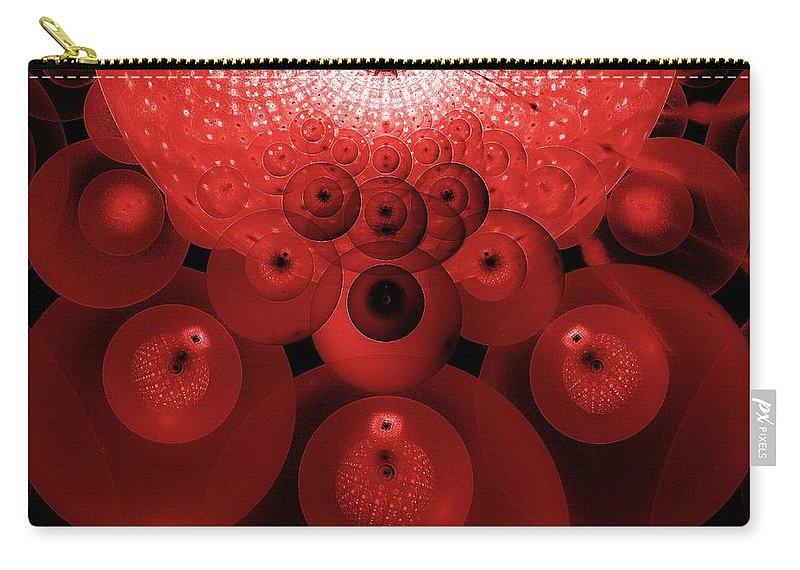Abstract Expressionism Carry-all Pouch featuring the digital art Alien Fruit by Georgiana Romanovna