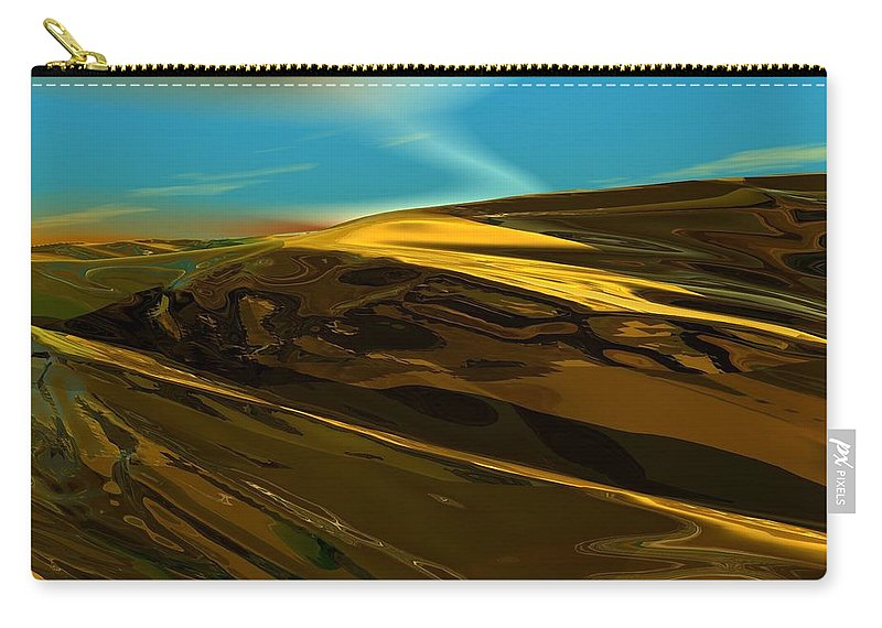 Landscape Carry-all Pouch featuring the digital art Alien Landscape 2-28-09 by David Lane