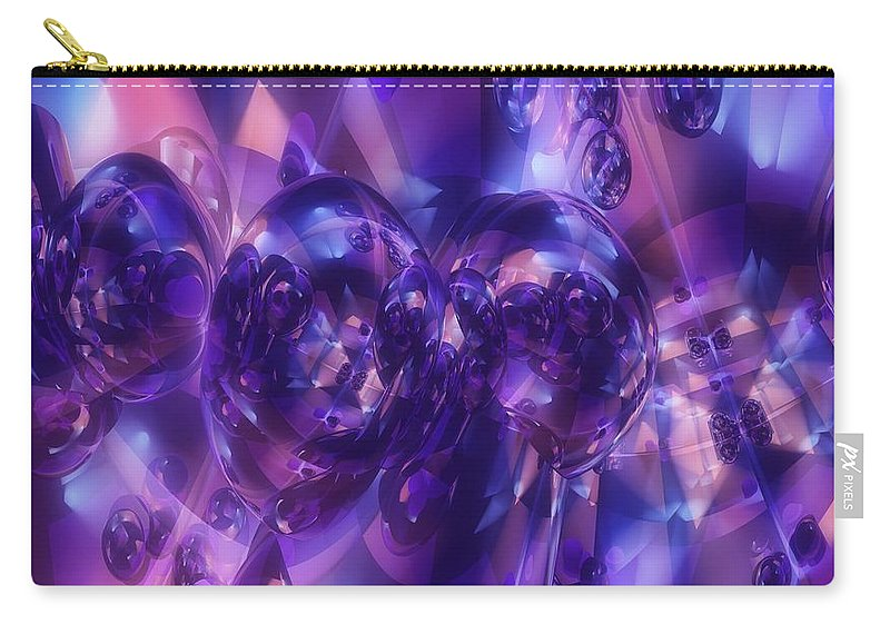 Alien Carry-all Pouch featuring the digital art Alien Structures by Georgiana Romanovna