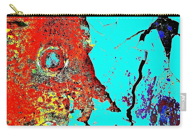 Abstract Art Carry-all Pouch featuring the photograph Rivet Man Exposed by David Coleman