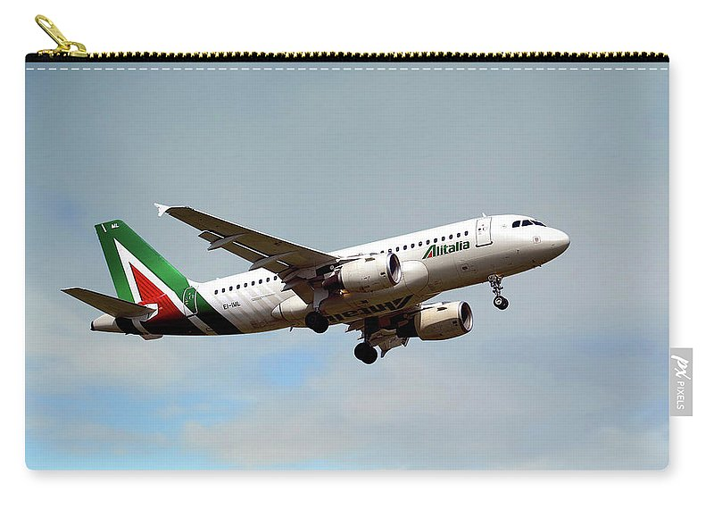 Alitalia Carry-all Pouch featuring the photograph Alitalia Airbus A319-112 by Smart Aviation
