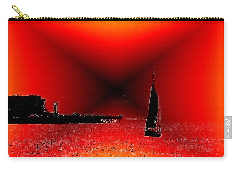 Sail Carry-all Pouch featuring the photograph Alki Sail 2 by Tim Allen