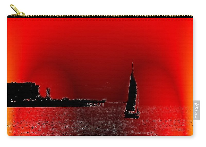 Seattle Carry-all Pouch featuring the photograph Alki Sail 4 by Tim Allen