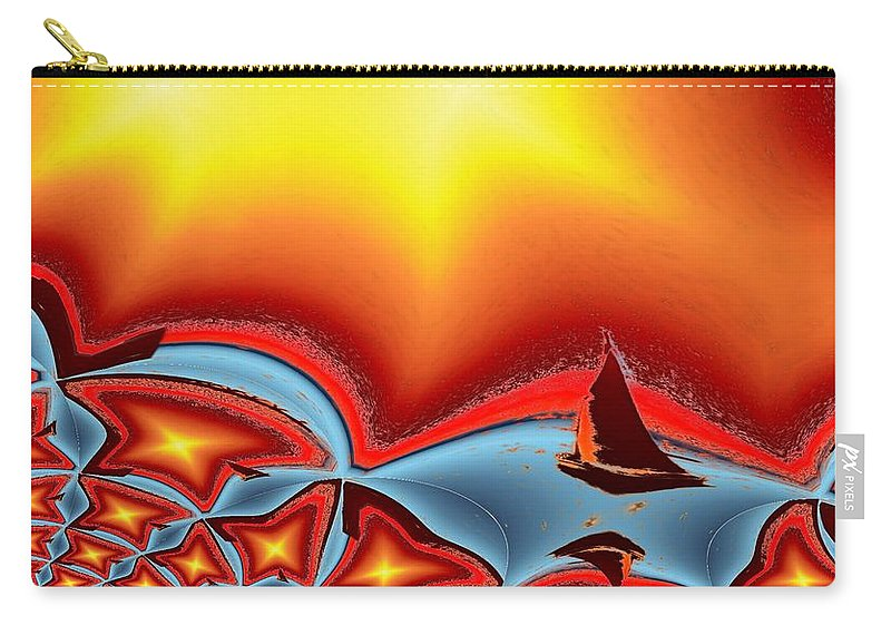 Sail Carry-all Pouch featuring the photograph Alki Sail Under The Sun 2 by Tim Allen